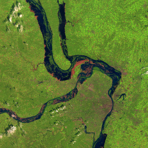 Satellite Image STL Flood 1993 (USGS)